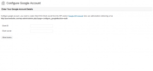 Configure Google Account